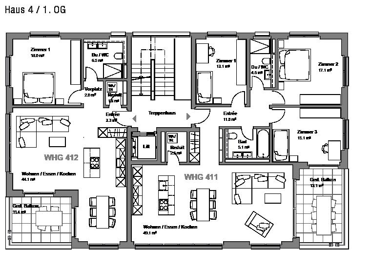 Superb Wohnungen 411   412